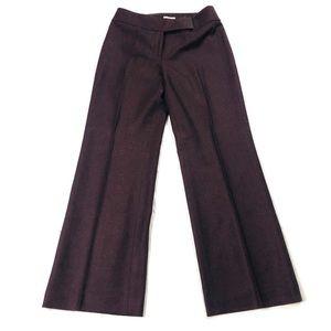 Ann Taylor Loft Wide Leg Tweed Trouser Pants Sz 6